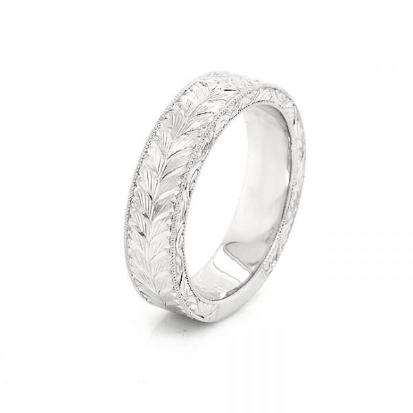 6mm wide flat vintage wedding band for guy