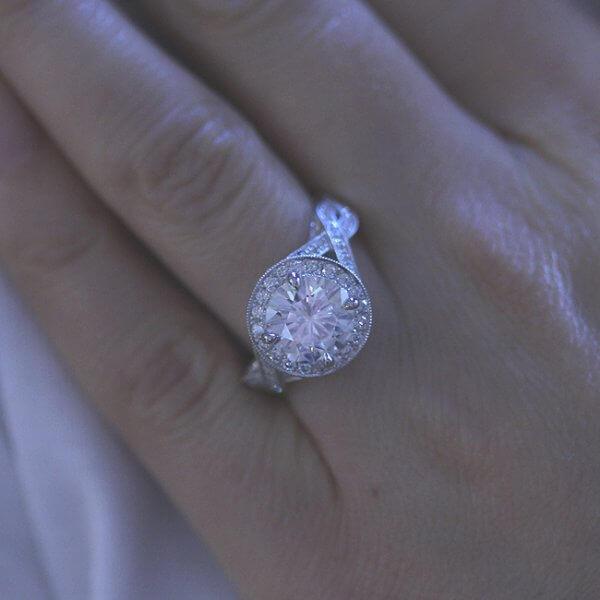 Antique Moissanite Engagement Ring