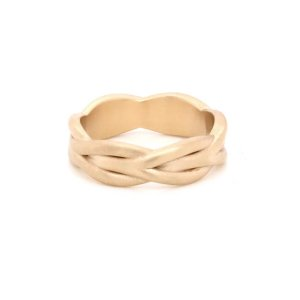Braided Rope Men's Wedding Ring