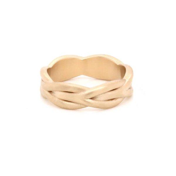 Braided Rope Men's Wedding Ring