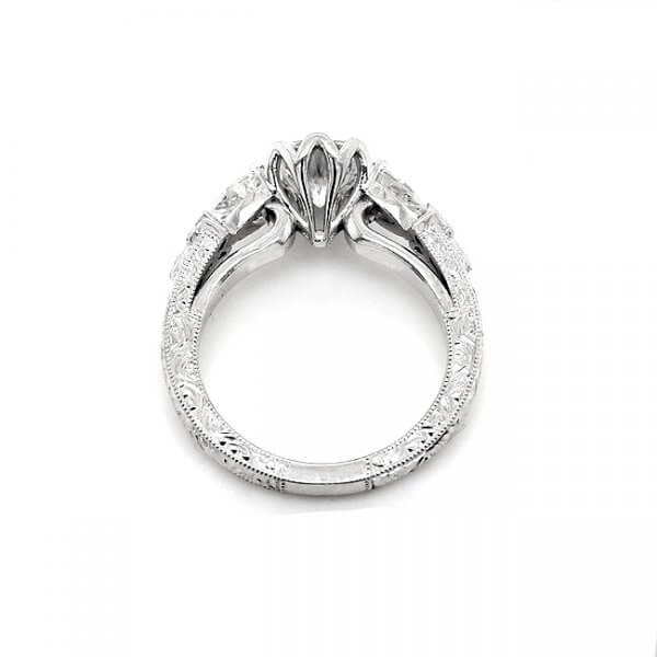 Edwardian Hand Carved Promise Ring R3061VENW