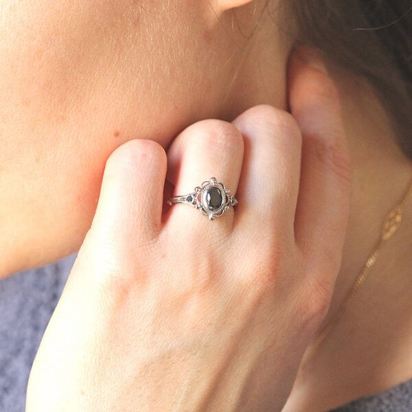 Elegant Victorian inspired engagement ring
