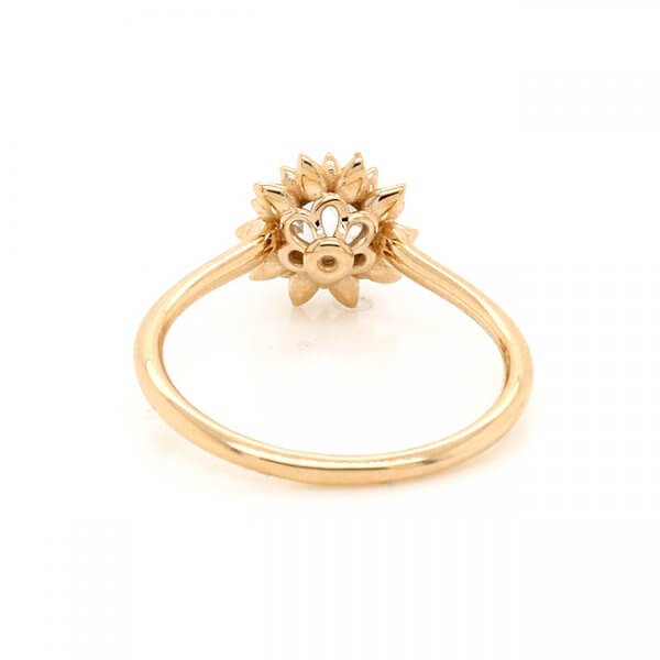 Floral Non Traditional Diamond Ring
