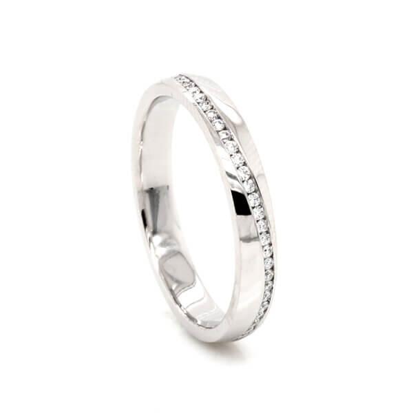 Modern Diamond Eternity Ring 3mm OroSpot