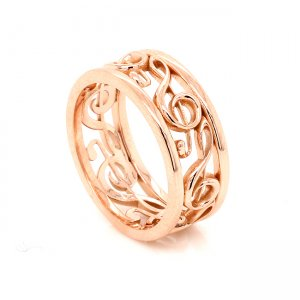 Music lovers wedding ring OroSpot