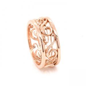 Treble Cleff Gold Wedding Ring OroSpot