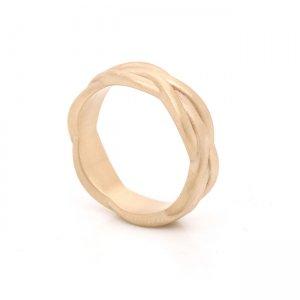 Unique Braided Men's Wedding Ring