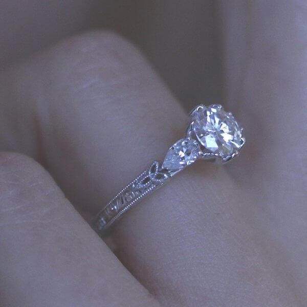 Tulip Vintage Moissanite Ring