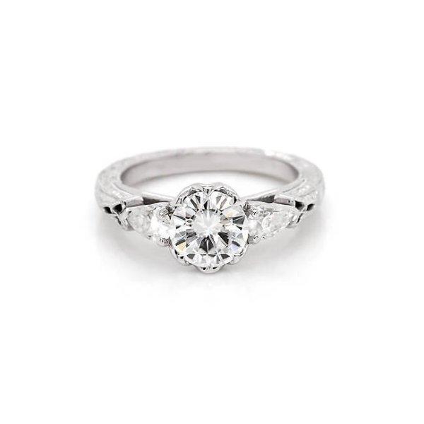 Vintage Engraved Forever One Ring R3061VENW
