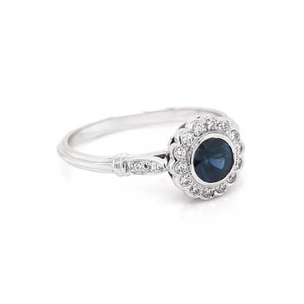 Vintage Sapphire Proposal Ring