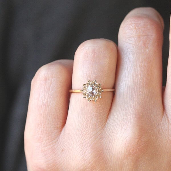 nature solitaire diamond promise ring
