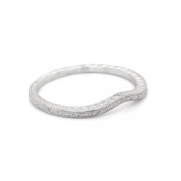 1mm skinny contour vintage wedding ring