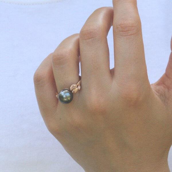 AAA Tahitian Pearl Ring OroSpot