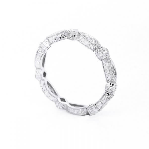 Antique diamond stack wedding ring