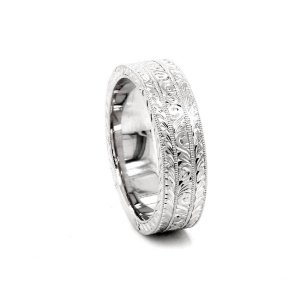 art deco men's wedding ring
