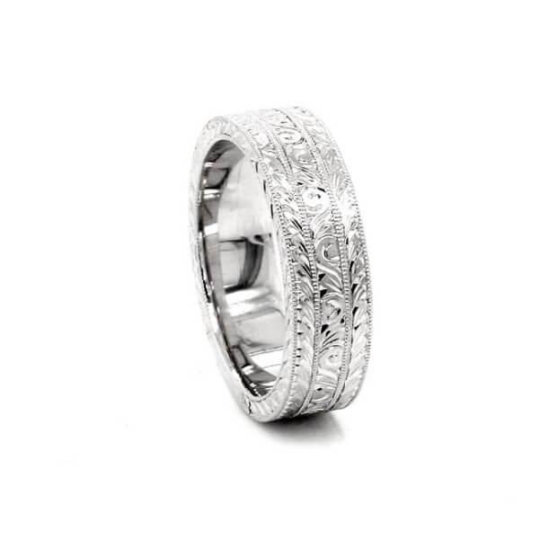 art deco men's wedding ring