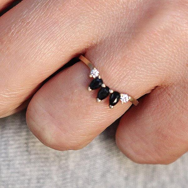 Black Sapphire Diamond Ring Enhancer OroSpot