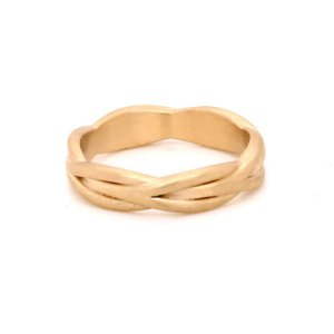 Braided Gold Women's Wedding Ring