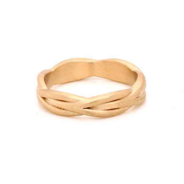 Braided Gold Women's Wedding Ring