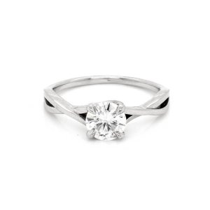 Braided Modern Moissanite Engagement Ring