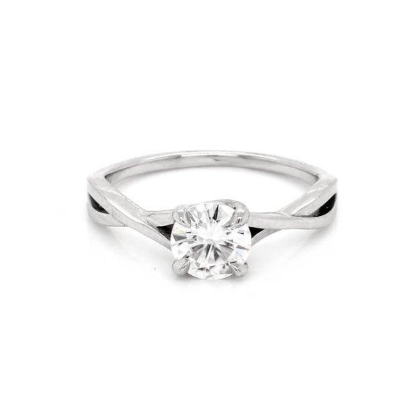 Braided Modern Moissanite Engagement Ring