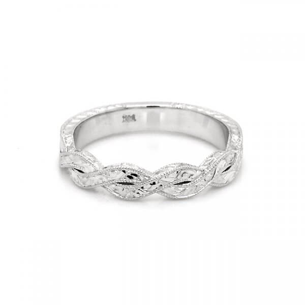 Braided Vintage Hand Engraved Hal Way Band