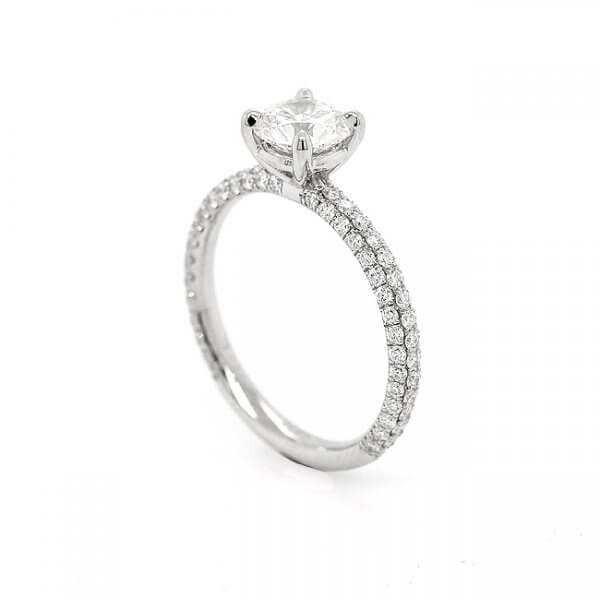 Classic diamond cut down engagement ring OroSpot