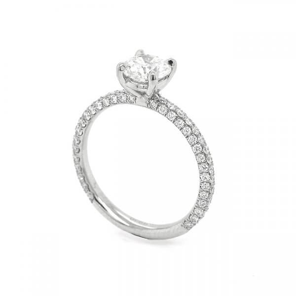 Contemporary diamond promise ring by OroSpot