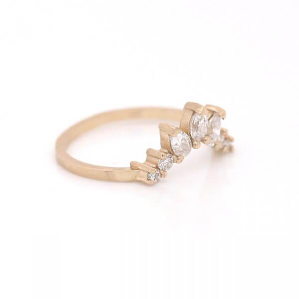 Crown Matching Moissanite Guard ring