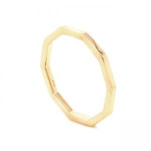 Decagon gold stackable gold band OroSpot