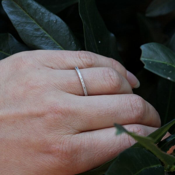 Delicate eternity ring with engraving by OroSpot