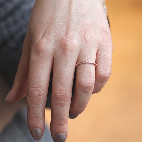 Delicate carved wedding band