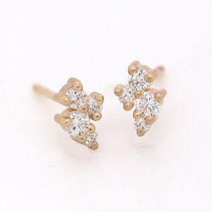 Diamond Cluster Stud Earrings OroSpot