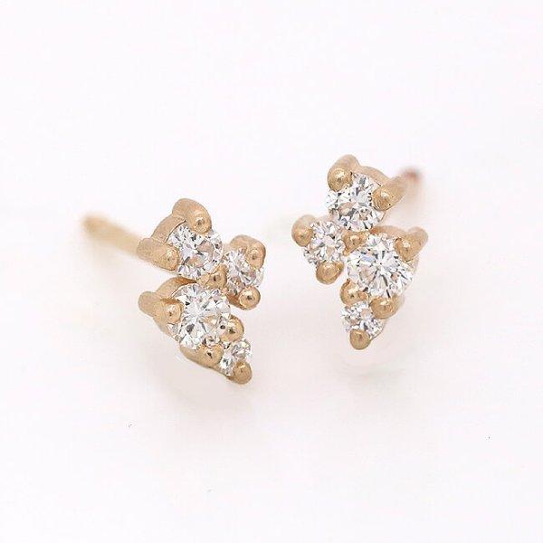 Diamond Cluster Stud Earrings OroSpot