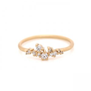 Diamond Cluster Wedding Ring