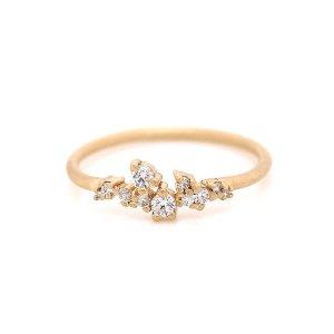 Diamond Cluster Wedding Ring