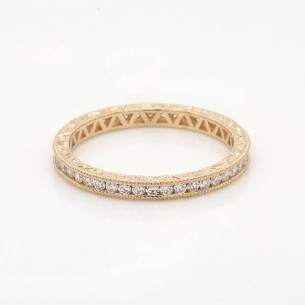 Diamond channel vintage stackable band OroSpot