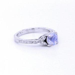 Edwardiand etched moonstone ring