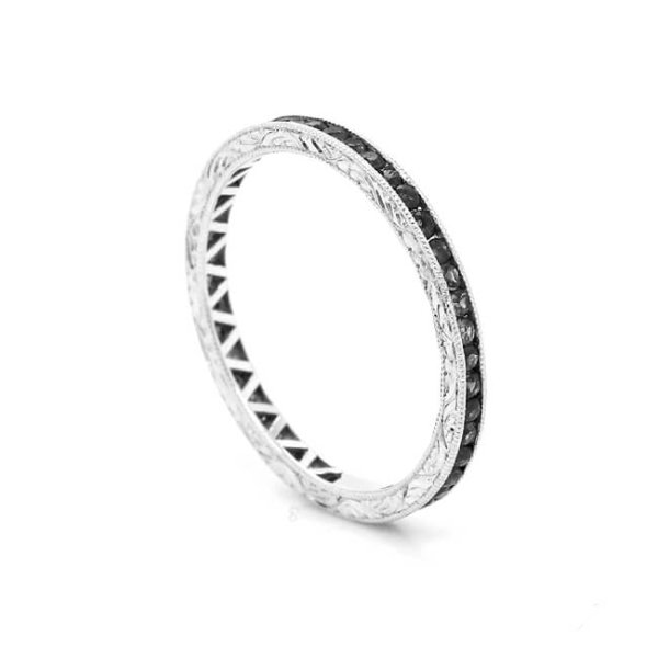 Engraved Diamond Eternity Band