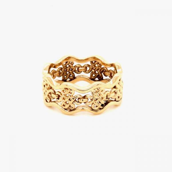 Eternal Knot Sacred Religious Symbol Band OroSpot