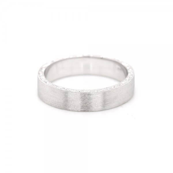 Flat Engraved Guy Classic Wedding Ring OroSpot B2072VEN2