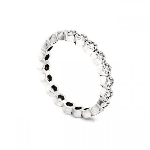 Geometrical diamond stack band