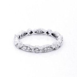 Hexagon Vintage Diamond Eternity Ring