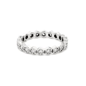 Hexagond Diamond Eternity Ring