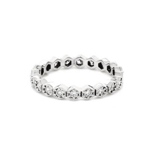 Hexagond Diamond Eternity Ring