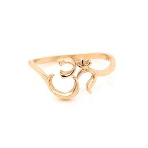Hinduism sacred symbol gold ring OroSpot
