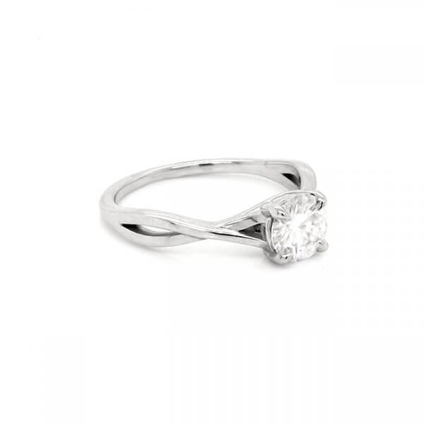 Intertwined Classic Moissanite Promise Ring