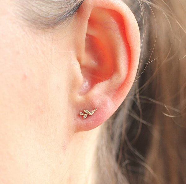 Leaf Climber Diamond Earrings