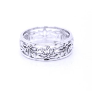 lotus flower Buddha awakening symbol ring