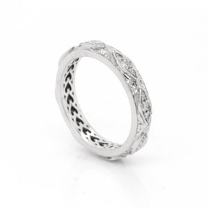 Marquise Sections Diamond Pave Antique Wedding Ring OroSpot